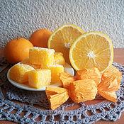 """Косметика ручной работы. Ярмарка Мастеров - ручная работа Мыльный сахарный скраб """"Апельсиновый мармелад"""". Handmade."""