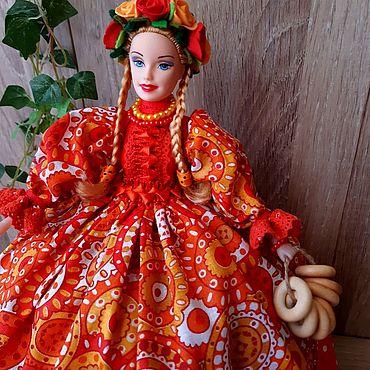 Для дома и интерьера ручной работы. Ярмарка Мастеров - ручная работа Кукла - грелка на чайник. Handmade.