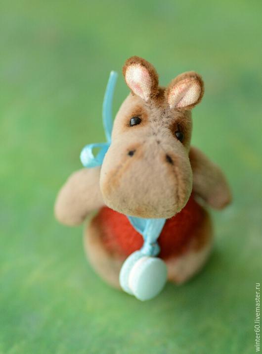 Мишки Тедди ручной работы. Ярмарка Мастеров - ручная работа. Купить Бегемотик Нюша. Handmade. Серый, мех для миниатюры