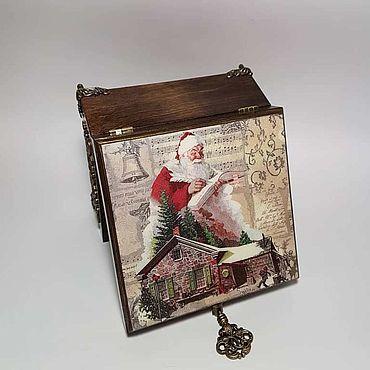 Для дома и интерьера ручной работы. Ярмарка Мастеров - ручная работа Шкатулки: Шкатулка Дед Мороз. Handmade.