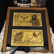 Картины и панно ручной работы. Ярмарка Мастеров - ручная работа Пиастры! Пираты! Пиратские деньги. Handmade.