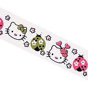 Материалы для творчества ручной работы. Ярмарка Мастеров - ручная работа Лента репсовая Hello Kitty. Handmade.