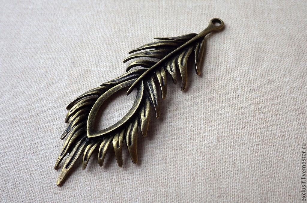 b30c688ee067 Подвеска для кулона перо павлина, жар-птицы – купить в интернет ...