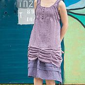 Одежда ручной работы. Ярмарка Мастеров - ручная работа Сиреневое летнее платье. Handmade.