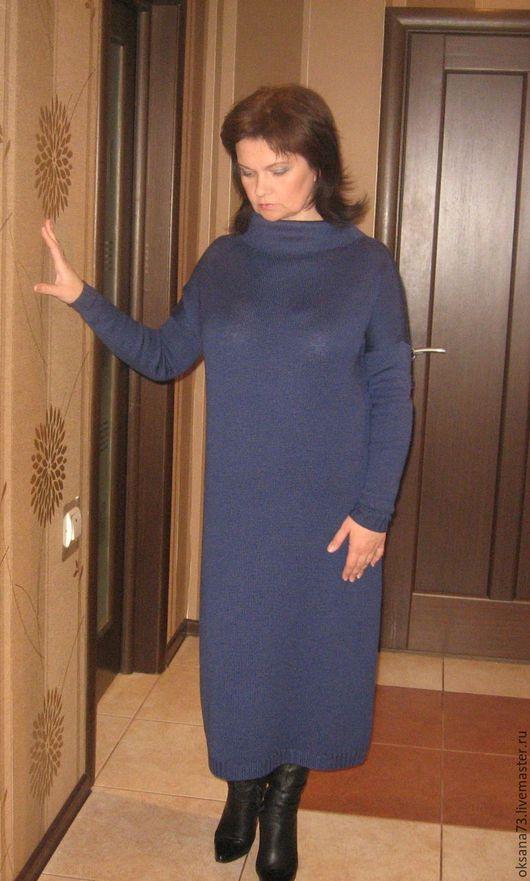 """Платья ручной работы. Ярмарка Мастеров - ручная работа. Купить Платье """"Стильный синий"""". Handmade. Тёмно-синий"""