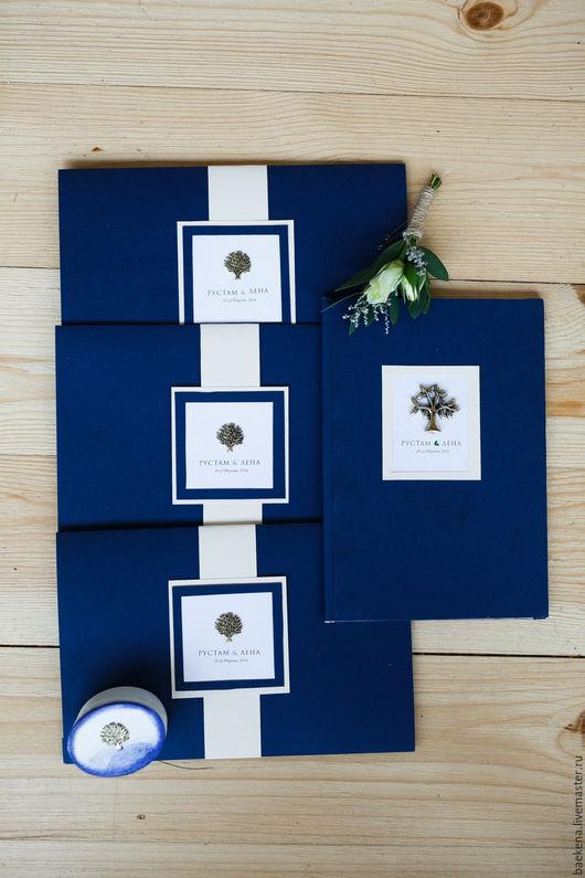 Свадебные аксессуары ручной работы. Ярмарка Мастеров - ручная работа. Купить Набор свадебных аксессуаров в цвете Индиго. Handmade.