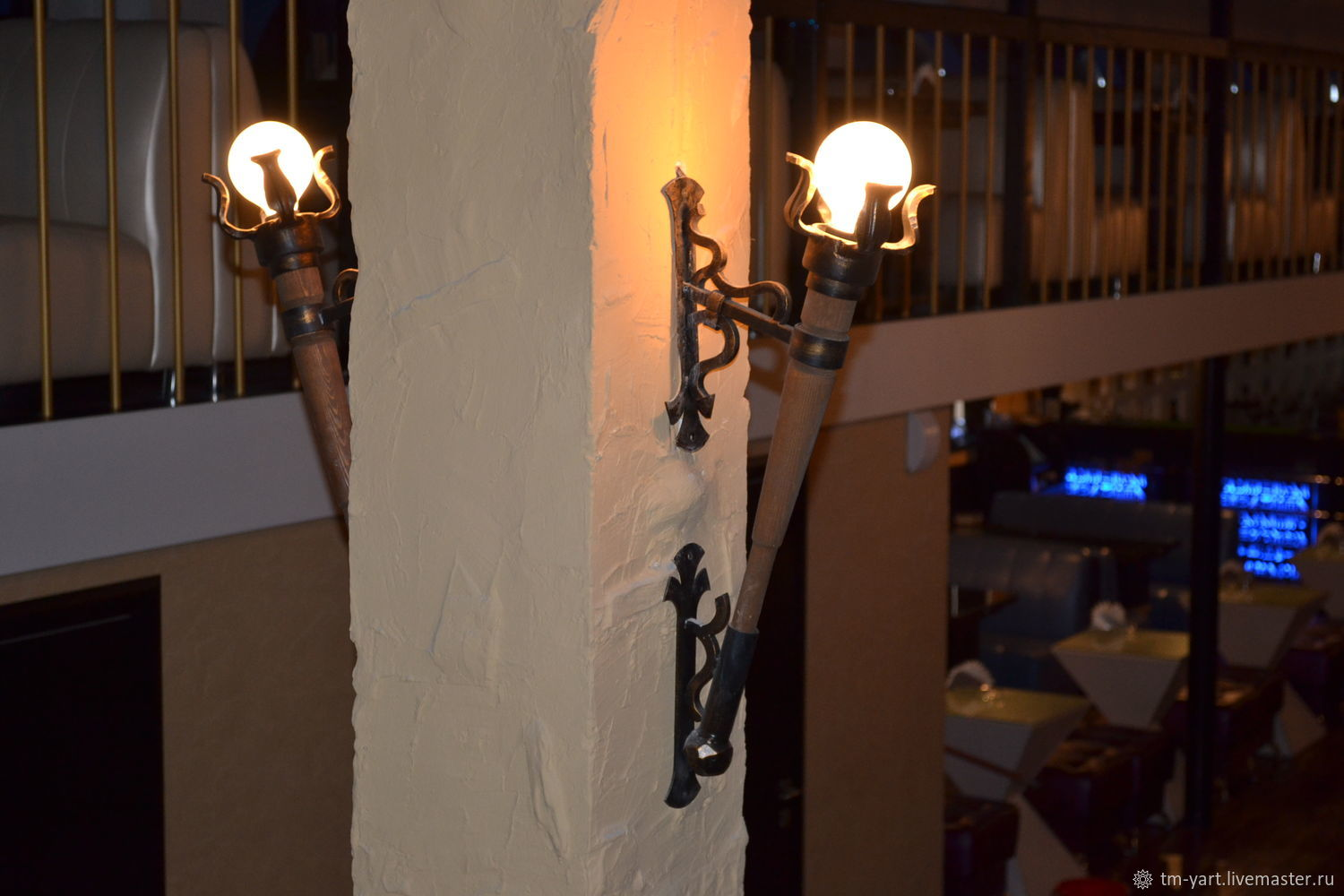 Wrought iron wall lamp 'Torch', Sconce, Barnaul,  Фото №1