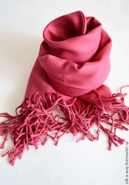 Шали, палантины ручной работы. Ярмарка Мастеров - ручная работа. Купить Кашемировый палантин. Розовый. Помадный.. Handmade. Розовый, помада