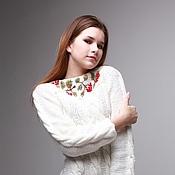 Шерстяной свитер с нашивкой