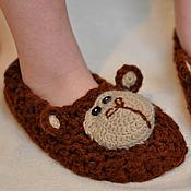 """Обувь ручной работы. Ярмарка Мастеров - ручная работа Тапки домашние """" Обезьяна коричневая"""". Handmade."""