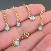 Материалы для творчества handmade. Livemaster - original item Small pendant with blue crystal art. 4-10 on a chain. Handmade.