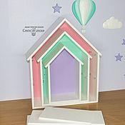 Полки ручной работы. Ярмарка Мастеров - ручная работа Полки: Полка домик маленький. Handmade.