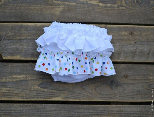 Для новорожденных, ручной работы. Ярмарка Мастеров - ручная работа. Купить Трусики блумеры для фотосессии из хлопка bloomer. Handmade. Трусики