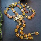 Украшения handmade. Livemaster - original item Necklace .  amber. Handmade.