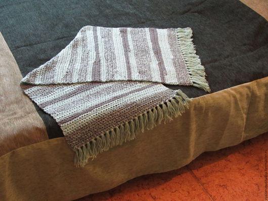 """Текстиль, ковры ручной работы. Ярмарка Мастеров - ручная работа. Купить Вязанный коврик """"Полынное  поле"""". Handmade. Мятный"""