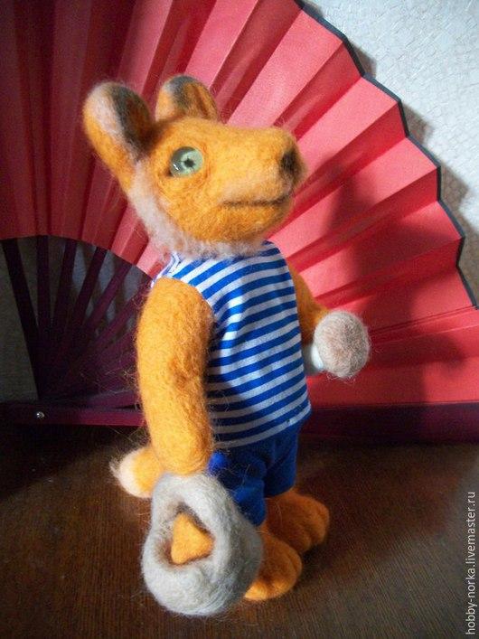 Игрушки животные, ручной работы. Ярмарка Мастеров - ручная работа. Купить Дедушка лис. Handmade. Оранжевый, дедушка, тельняшка, трикотаж