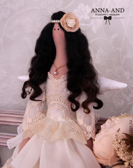 Куклы Тильды ручной работы. Ярмарка Мастеров - ручная работа. Купить Винтажный ангел Джейн. Handmade. Бежевый, фея, ангел