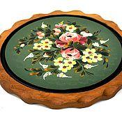 Винтаж handmade. Livemaster - original item Decorative hanging tray with hand-painted. Handmade.