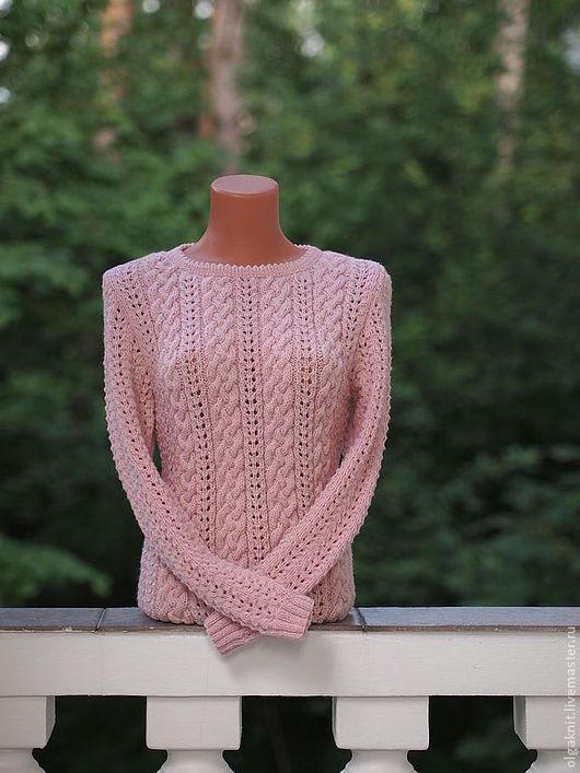 Кофты и свитера ручной работы. Ярмарка Мастеров - ручная работа. Купить пуловер нежно-розовый. Handmade. Бледно-розовый