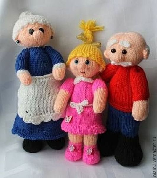 Knitting Pattern Toy Story Characters : Buy Knitted toys Grandmother, Grandfather and Granddaughter Masha on Livemast...