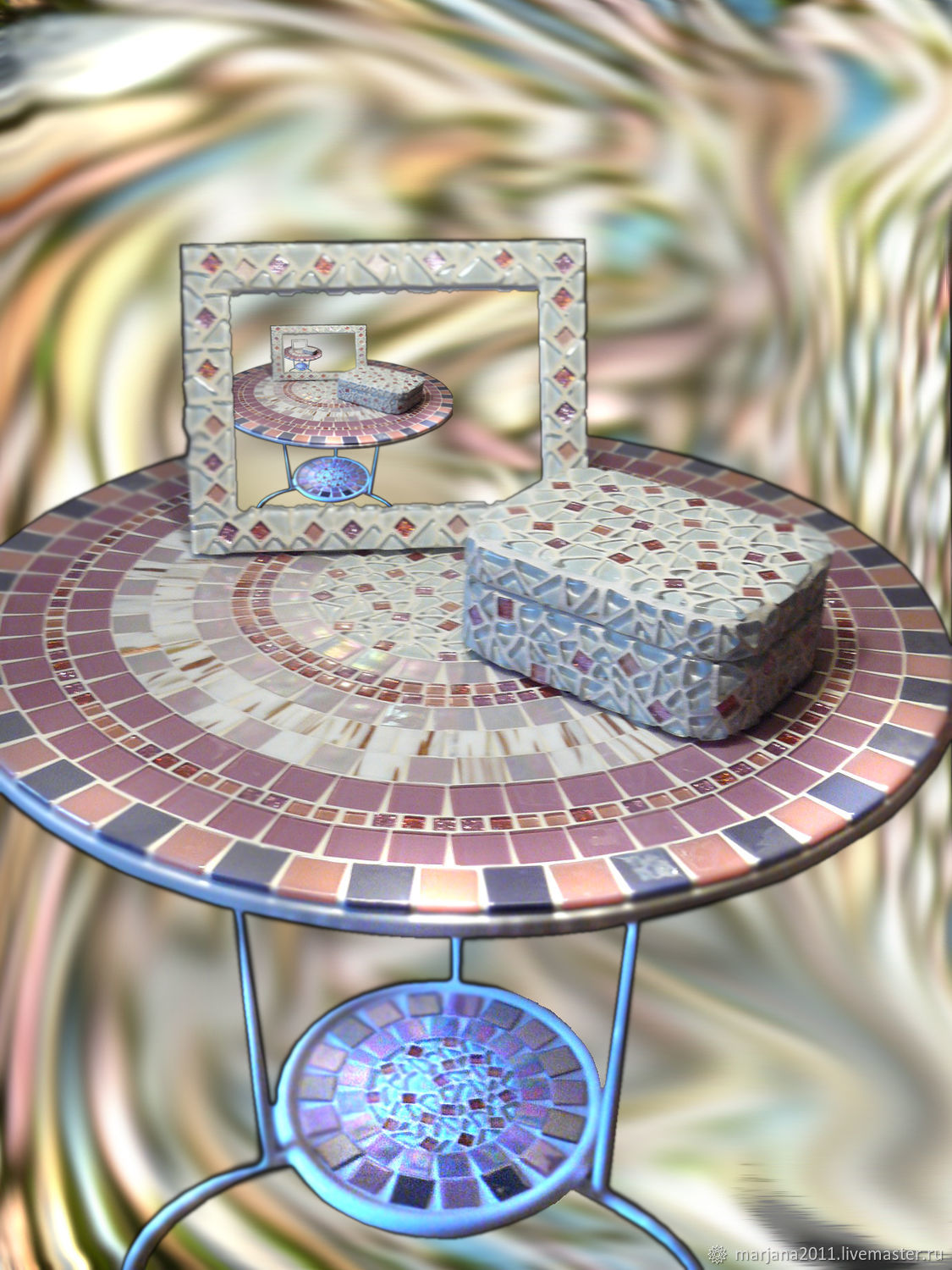 The mosaic coffee table from 'the Shining', Tables, Moscow,  Фото №1