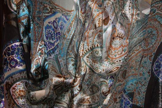 """Шитье ручной работы. Ярмарка Мастеров - ручная работа. Купить шелк дэворе """"пейсли"""".  Италия.. Handmade. Шифон, ткань для рукоделия"""
