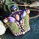 """Броши ручной работы. Ярмарка Мастеров - ручная работа. Купить Брошь - корона """"Лесная королева"""" : вышивка бисером. Handmade."""