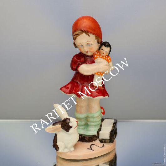 Винтажные предметы интерьера. Ярмарка Мастеров - ручная работа. Купить Девочка кукла заяц машина Wagner Apel Германия 21. Handmade.