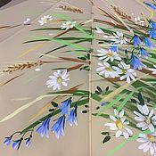 Зонт с авторской росписью - Полевые цветы