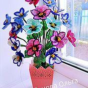 Цветы и флористика handmade. Livemaster - original item Pansy beaded. Handmade.