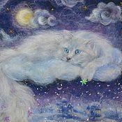 """Картины и панно ручной работы. Ярмарка Мастеров - ручная работа """"Снежный кот"""". Handmade."""