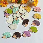 Материалы для творчества handmade. Livemaster - original item Buttons hedgehogs. Handmade.
