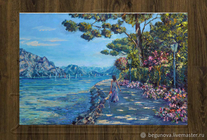 Latest Landscapes handmade Livemaster handmade Buy Oil painting of the lake lake Style - Simple Elegant lake painting Minimalist