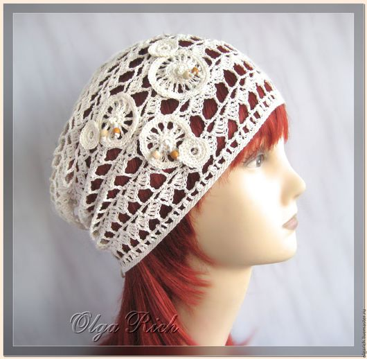 модная летняя шапочка