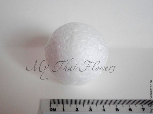 100 шт пенопласт шар 50 мм My Thai материалы для творчества из Таиланда