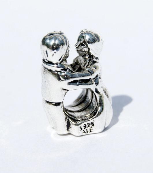 Для украшений ручной работы. Ярмарка Мастеров - ручная работа. Купить Шарм бусина Молодожены Первый танец серебро 925 пробы. Handmade.