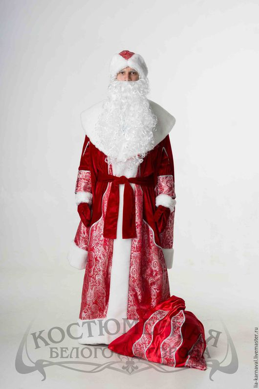 """Карнавальные костюмы ручной работы. Ярмарка Мастеров - ручная работа. Купить Костюм Дед Мороз """"Боярский"""" красный. Handmade."""