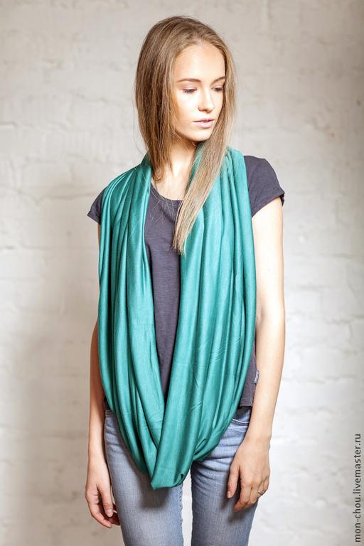 Шали, палантины ручной работы. Ярмарка Мастеров - ручная работа. Купить шарф Зеленое море. Handmade. Морская волна, палантин