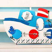 Куклы и игрушки ручной работы. Ярмарка Мастеров - ручная работа Бизиборд Кораблик. Handmade.