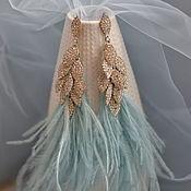 Украшения handmade. Livemaster - original item Earrings with feathers elegant. Handmade.