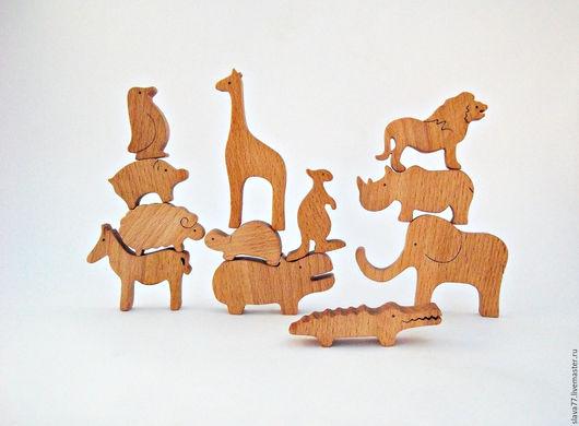 """Развивающие игрушки ручной работы. Ярмарка Мастеров - ручная работа. Купить Деревянный балансир """"Зоо"""". Handmade. Бежевый, развивающая игрушка"""