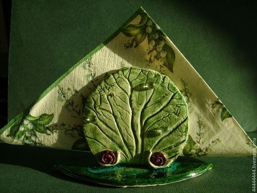 Кухня ручной работы. Ярмарка Мастеров - ручная работа. Купить салфетница Лето(1)  керамика. Handmade. Салфетница, подарок женщине, лето