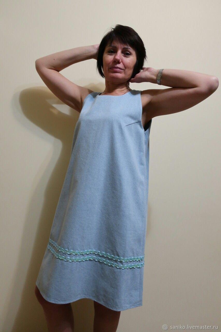 b91f508e4a8 Платья ручной работы. Ярмарка Мастеров - ручная работа. Купить Платье -сарафан  джинсовый.