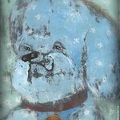 Картины и панно ручной работы. Ярмарка Мастеров - ручная работа сказочная картина. Фэнтези.Медаль за верность. Пёс. Акрил.. Handmade.