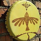 Музыкальные инструменты handmade. Livemaster - original item The bird of happiness. Tambourine Vedic. Handmade.