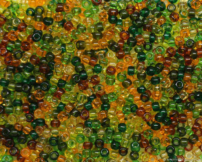 Japanese beads' TOHO ' assorted no. №05 transparent green 10 g, Beads, St. Petersburg,  Фото №1