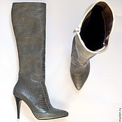 """Обувь ручной работы. Ярмарка Мастеров - ручная работа Сапоги """"Серый страус"""". Handmade."""