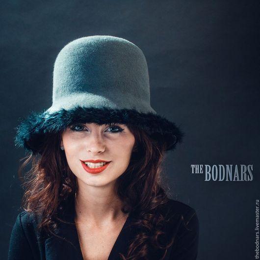 Шляпы ручной работы. Ярмарка Мастеров - ручная работа. Купить Фетровая шляпа торшер Агата. Handmade. Шляпа, темно-серый