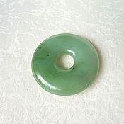 Украшения handmade. Livemaster - original item Copy of Round pendant of jade. Handmade.