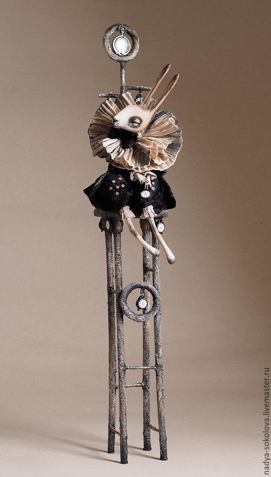 Коллекционные куклы ручной работы. Ярмарка Мастеров - ручная работа. Купить ... временно .... Handmade. Темно-серый, папье-маше
